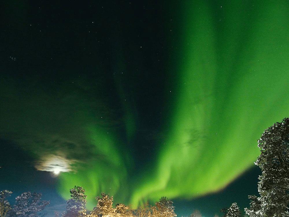 ظاهرة الشفق القطبي في فنلندا